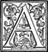 Initial A engraving