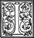 Initial I engraving