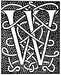 Initial W engraving